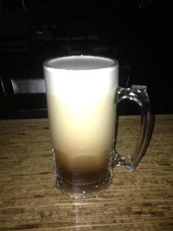 "Banff Ave Brewing Co: A perfect beer: a full-sized stein of Banff Avenue Brewing Company's ""Brewer's Oar Cream Ale"""
