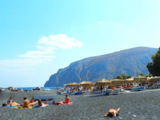 Kamari Beach : ...la spiaggia...