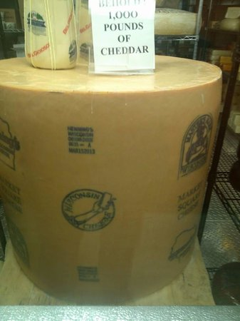 Lake Delton, WI: Wisconsin is serious about their cheese!