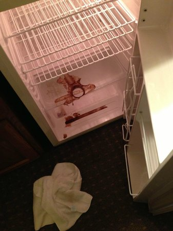 Country Inn & Suites By Carlson, Mansfield : Soda explosion in fridge