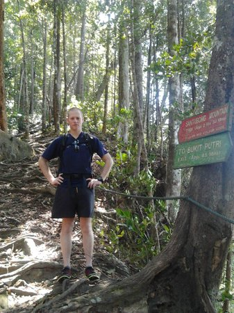 Mount Santubong: BF at juncture of jungle trek and summit trail