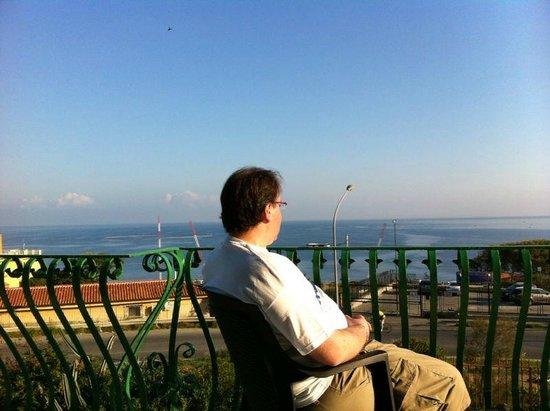 Bellevue del Golfo: Vista desde el comedor hacia el mediterraneo