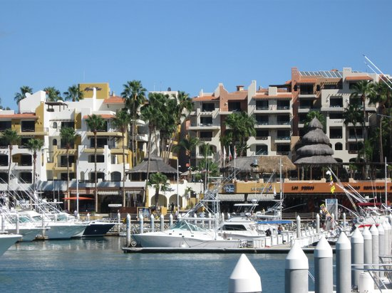 Marina Fiesta Resort & Spa: View from accross the marina