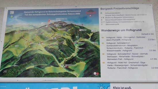 Schauinslandbahn: Map of the mountain