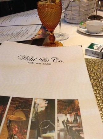 Wild & Co. Steakhouse: menu