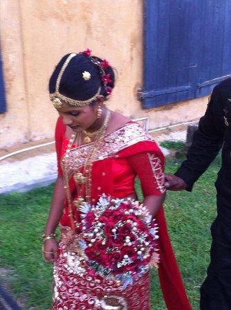 Fort Inn Guest House : sposa sri lankese nel forte di galle