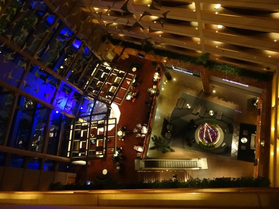 Grand Millennium Auckland: The Atrium from the 11th Floor