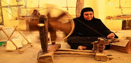 Qena, Egipt: traditional weaving methods