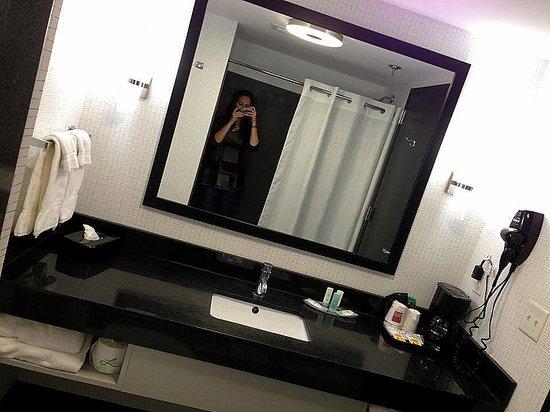 Comfort Suites Bypass: efficient bathroom