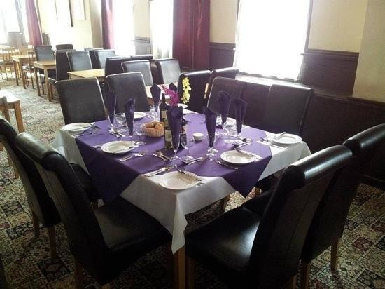 The Royal Shades Hayling Island: the restaurant layed up for a private party