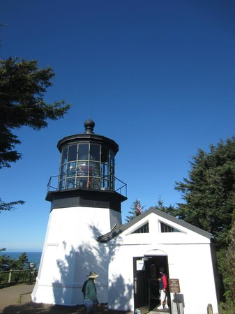 Cape Meares Lighthouse and Wildlife Refuge: No need for a tall lighthouse because this one sits so high up on the cliff