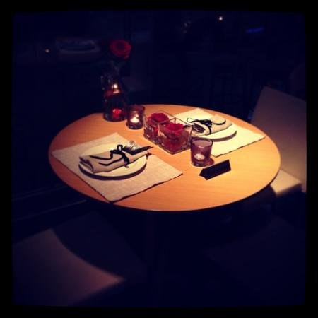 "The Excelsior Bistro: ""will you marry me"" set up"