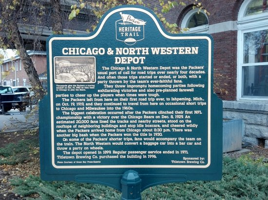 Titletown Brewing Company : Titletown Brewing Co. - historic Chicago & North Western Depot