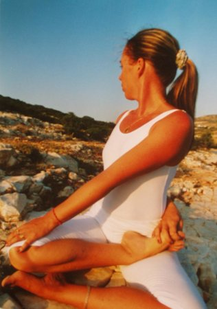 Aliki Yoga School: Oona practicing in 2002