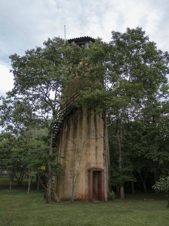 Posada Puerto Bemberg: Water tower in the garden