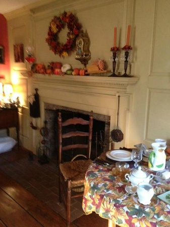 The Daniel Rust House: Fireplace in Dining Room