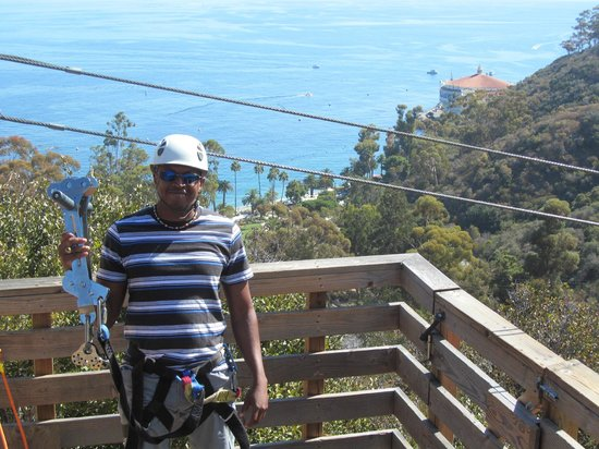 Catalina Zip Line Eco Tour: Scene from one of the post.