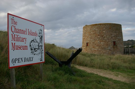 The Channel Islands Military Museum: The entrance sign