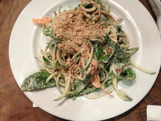 Prasad: Curry / Zucchini pasta (Raw)