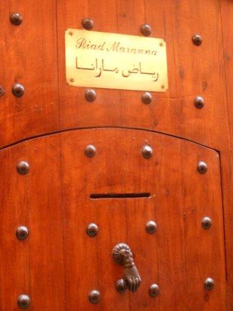 Riad Marana: entrada
