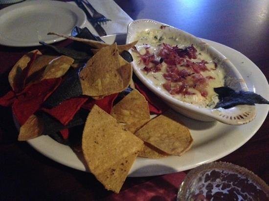 The Cellar Tavern: Artechoke Dip (with the optional bacon)