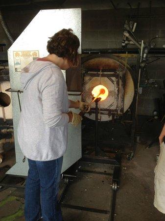 Jennifer Sears Glass Art Studio : Heating up the glass