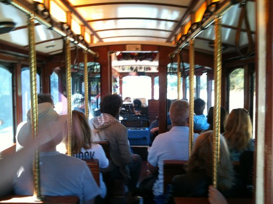 Wine Trolley Tours: On the wine trolly.