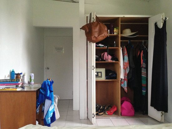 Rio Guest House : The closet space in Room #9 is big enough for 2 people or a longer stay.