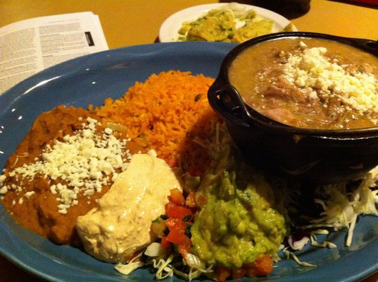 Javelina Cantina : Shredded pork with green chile - excellent, huge portion