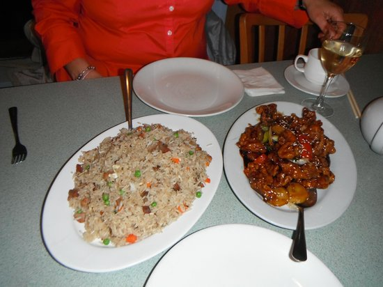 halibut house Family Restaurant: Rice & Ginger Chicken