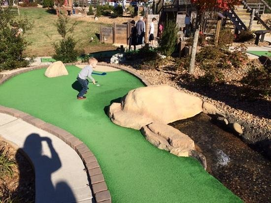 Lake Norman Miniature Golf: love the hole that you get to hit into the water!