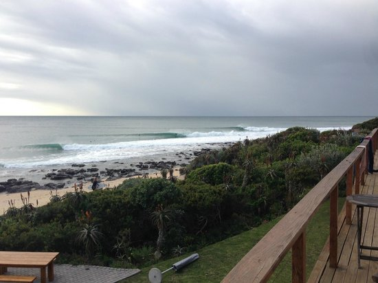 African Perfection Jeffreys Bay: the lineup from our balcony