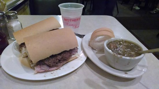 Mother's Restaurant: Po Boy and Seafood gumbo