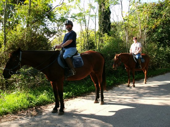 Trailriders Horse Trekking: me and my husband on the trail