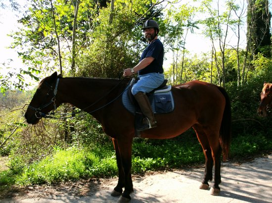 Trailriders Horse Trekking: my husband on his horse Titan