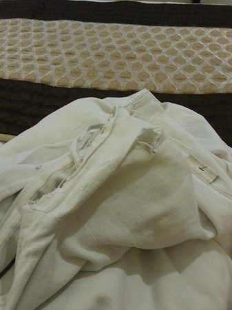 Hotel Taj Resorts: Holes in the comforter/bed cover