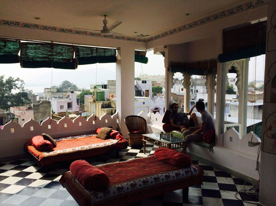 The Little Prince Heritage Home : One of the two terraces. There's a rooftop above with sublime view too!