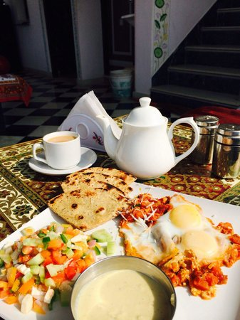 The Little Prince Heritage Home : Fusion breakfast with pot of chai. Gets the day started