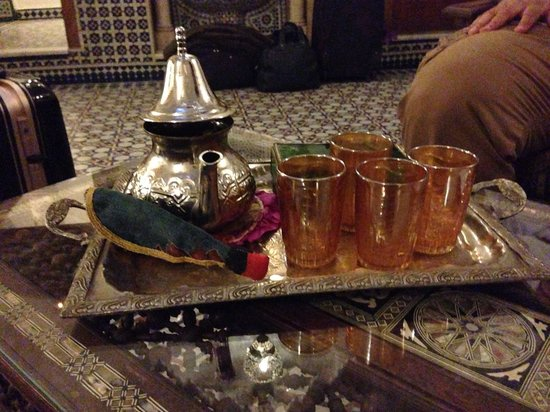 Palais Sebban: Welcome tea