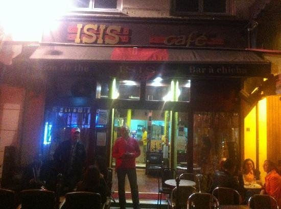 Isis Cafe : Owner and us :)