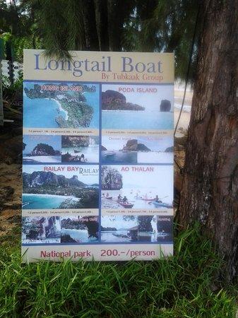 Amari Vogue Krabi: Longtail Boat service