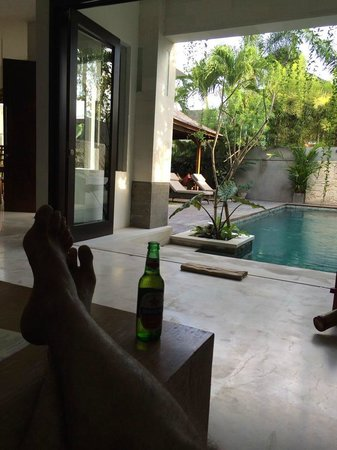 Artisane Villas and Spa: View from the couch with a cool Bintang