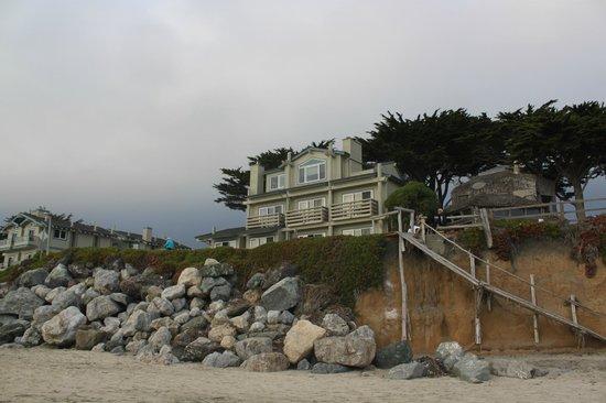 Cypress Inn on Miramar Beach : Cypress Inn, main house, from the beach
