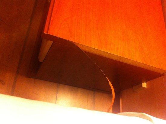 Hotel Centro Turistico Gardesano: Ancora mobili scollati....ma come si fa a dormire in una stanza del genere ?