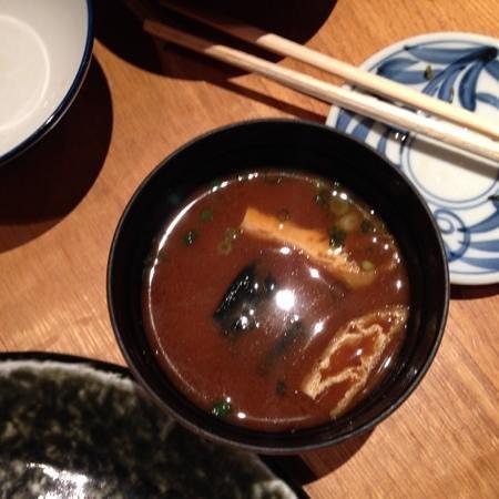 Katsukura, Kyoto Station Bldg The Cube: Miso soup