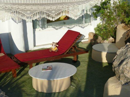 Hacienda Na Xamena: La terrasse