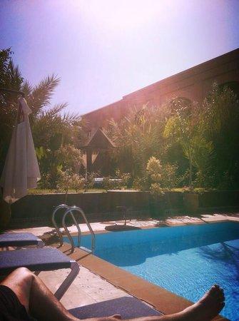 Palais Jena & Spa : Laying by the pool