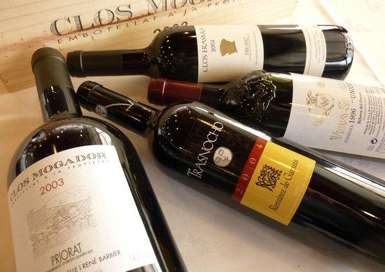 Vinos Selectos en Bodega propia. Restaurant Diego-La Terrassa by Sonia