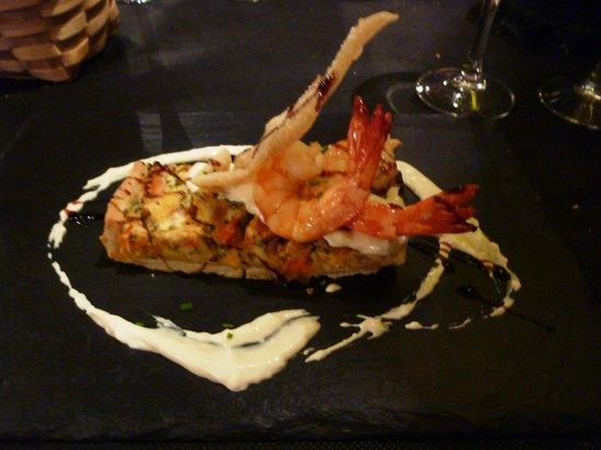 Restaurante Gran Sol: tortino di pomodori con gamberi