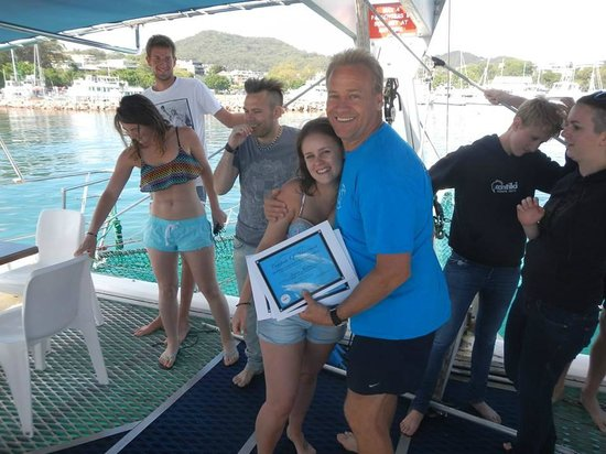 Dolphin Swim Australia: the acknowledgement/achievement! <3